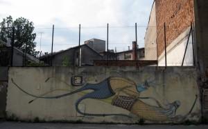 """Ul. Kącik. Mural powstał w ramach warsztatów """"Her/My/His/story"""", 2011, Mikołaj Rejs, MOCAK"""