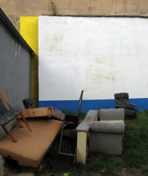 Ul. Józefińska 30. Mural/Antymural, 2013, Vova Vorotniov (Vol.vo), ArtBoom. Połączenie Mondriana z Duchampem ;)