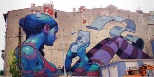 Pomorska 67, 2011, Aryz (Hiszpania). To jeden z symboli łódzkiej galerii murali, świetnie wpasowany w miejsce, w którym powstał.